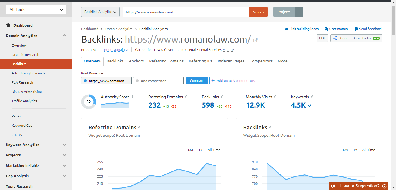law-backlinks status